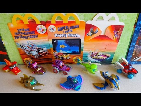 2016 Skylanders SuperChargers Toys Complete Set in Happy Meal McDonalds Europe видео