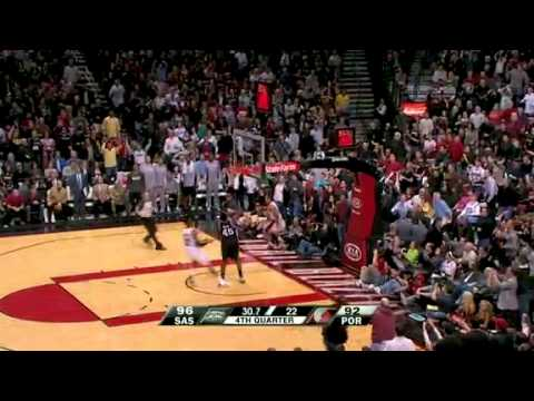 Andre Miller steals and scores against Spurs