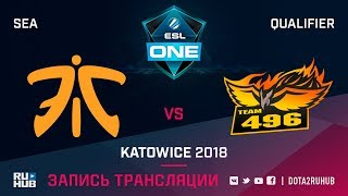 Fnatic vs 496Vikings, ESL One Katowice SEA, game 1 [CrystalMay]