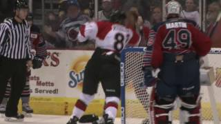 Cyclones TV: Jaynen Rissling Drops the Gloves