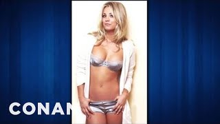 Kaley Cuoco Is A Scantily-Clad Ping-Pong Cheat - CONAN on TBS