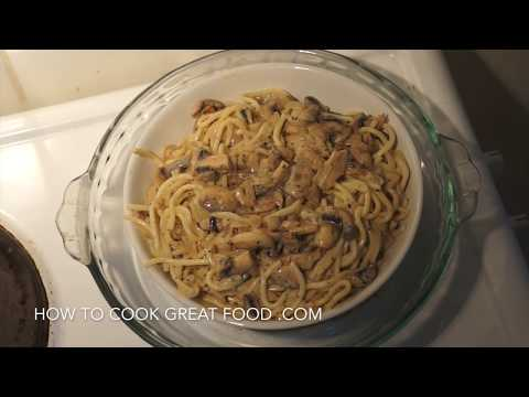 Super Easy Mushroom Cream Pasta Recipe - Spaghetti