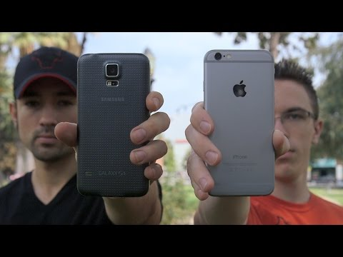 samsung - iPhone 6 vs Galaxy S5: What's your pick? Note 4 vs iPhone 6 Plus! http://youtu.be/8EsFNU6Kj3Y Huge shoutout to Jonathan and Judner for the help with the vide...