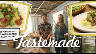 Megan and Jimmy's 360 Breakfast Tacos | Tastemade Hors d'oeuVRes by Tastemade