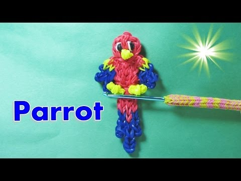 Rainbow Loom Charms: PARROT / MACAW: How To Design / Tutorial (DIY Mommy)