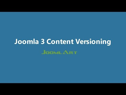 Joomla 3 Video tutorials - Content versioning