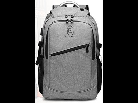 E-ZONED Large (17in) Laptop Unisex Waterproof Backpack