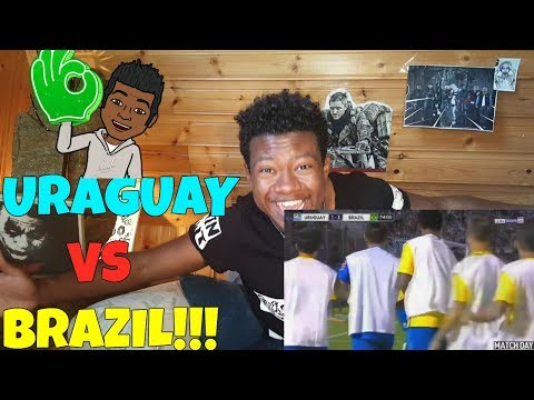 Uruguay vs Brazil 1-4 - All Goals & Extended Highlights - World Cup Qualifying!! REACTION!!!