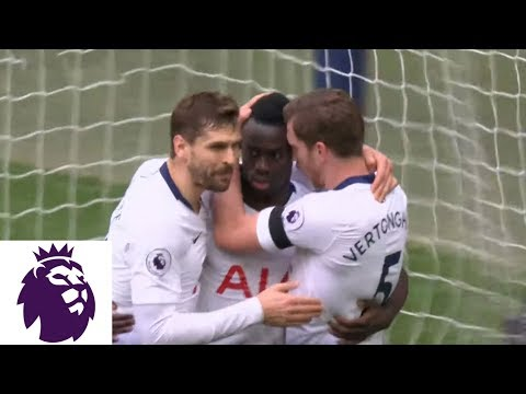 Video: Davinson Sanchez diving header put 1-0 for Tottenham v. Leicester City | Premier League | NBC Sports