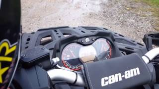 5. 2017 Can Am Outlander 1000R MAX XT-P HMF Exhaust + Optimizer BLACKED OUT