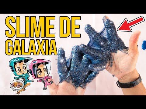 Videos caseros - Cómo hacer SLIME GALÁCTICO casero - MOCO DE GORILA DE GALAXIA (Experimentos Caseros)
