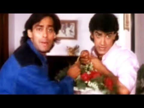 Video Salman Khan & Aamir Khan try to impress Raveena Tandon | Andaz Apna Apna | Comedy Scene 14/23 download in MP3, 3GP, MP4, WEBM, AVI, FLV January 2017