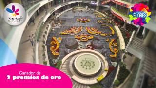 Centro Comercial Santafé Medellín - Timelapse Tapete de Flores 2013