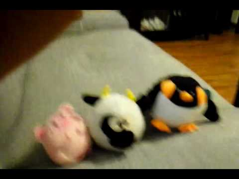 Trying to make a pig stuffed animal not land