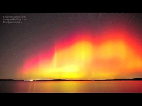Amazing HD Northern Lights Time Lapse Perry Lake, KS - AURORA - CME