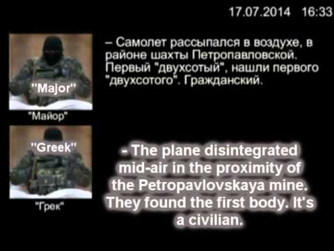 Pro-Russian rebels discuss the shooting down of the Malaysian Airlines airliner