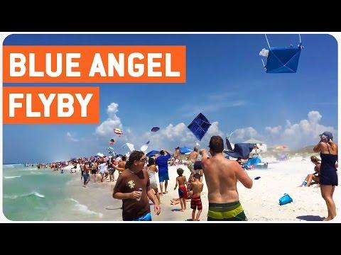 Blue Angel Jets Fly Low | Jet Stream (видео)