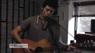 "A.A. Bondy performs ""I'm So Lonesome I Could Cry"", a Hank Williams cover at WNRN in Charlottesville, Virginia on November 3, ..."