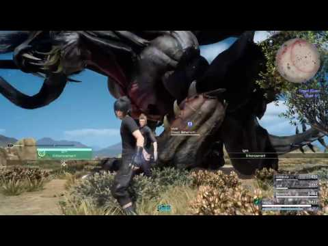 FINAL FANTASY XV Fighting the Dread Behemoth Timed Quest