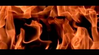 Very long-run slow motion fire Thick flames and wood 600fps V12202