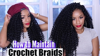 Thanks to Grace Eleyae, the makers of Satin Lined Slaps for sponsoring this video! --Get 10% off your SLAP here: http://www.graceeleyae.com/ba10offHey, babes! Here is how to care for your crochet braids and protective styles. I also show you my maintenance tips & tricks to prolong the wear of crochet braid styles while taking care of your natural hair underneath! Let me know what videos I should do next :)Welcome to my channel! I'm Jodian aka JODI, and I share my creative ideas through TheBrilliantBeauty by uploading hair tutorials, makeup looks, and fashion videos. My hope is to inspire you to try something new and be confident in the process.--CHECK OUT MY PLAYLISTS:CROCHET BRAIDS http://bit.ly/2gGxn7HWIG TUTORIALS http://bit.ly/2ggWlOiDIY HAIR COLOR http://bit.ly/2gDkFdzKINKY STRAIGHT HAIRSTYLES http://bit.ly/1MmkRqs---⇣KEEP UP WITH MEINSTAGRAM: @thebrilliantbeautySNAPCHAT: brilliantb3autyTWITTER: @BrilliantJodianFACEBOOK: The Brilliant BeautyPINTEREST: The Brilliant Beauty--MY FILMING SETUP--Canon 80D http://amzn.to/2a3vnHQRing Light http://amzn.to/2arNbfA-- BIZ --For business inquiries only, I may be contacted at thebrilliantbeautybiz@gmail.com
