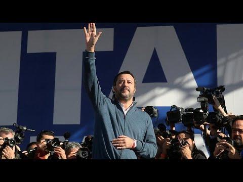 Italien: Lega-Kundgebung in Rom /