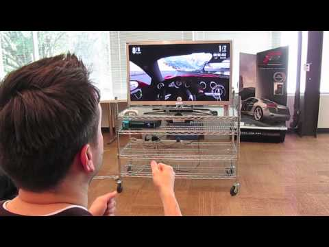 Turn 10 Studios - Forza Motorsport 4 Lead Design Bill Giese shows us how we'll soon be able to drive cars in the game using just our hands.