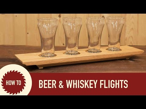 Woodworking: How to Make a Beer Flight a Whiskey Flight and a Candle Holder