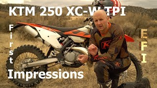 7. 2018 KTM 250 XC-W TPI First Thoughts | Does fuel injection on this 2 stroke perform?