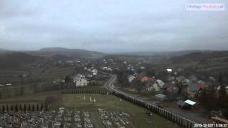 Czaszyn TimeLapse - widok na miejscowosc. Bieszczady timelapse -  02.12.2015.