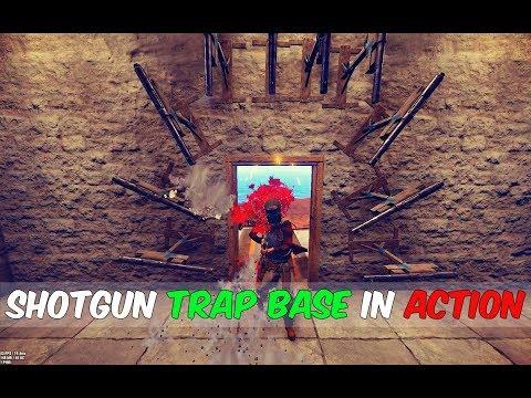 RUST - ShotGun Trap In Action ( More Free Loot)