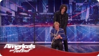 Howard Ties Up a Contestent on America's Got Talent - Season 7 Michael Griffin Audition