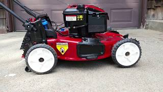9. Toro Personal Pace 22-Inch Mower 7 lb/ft. Briggs & Stratton with Electric Start 2014