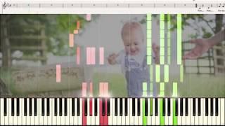 Первые шаги (Топ... Топ...) - музыка С. Пожлакова (Ноты и Видеоурок для фортепиано) (piano cover)