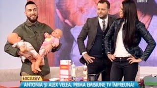 Antonia si Alex Velea la Rai da' Buni cu Mihai Morar pe Antena Stars - Competitie de schimbat scutece - Partea 2