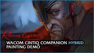 Wacom Cintiq Companion HYBRID painting demo