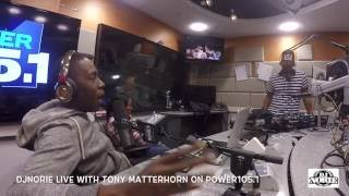 DJ NORIE LIVE INTERVIEW WITH TONY MATTERHORN ON POWER1051