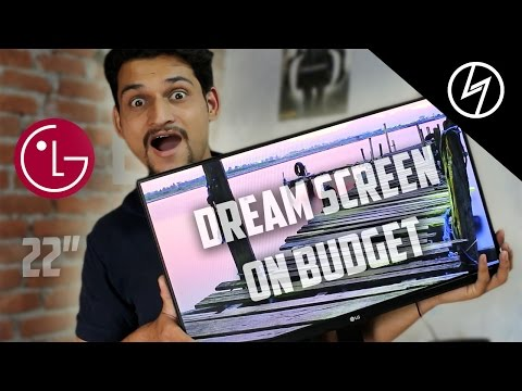 "LG 22MP68VQ 22"" Full HD IPS SLIM LED MONITOR - Unboxing & Overview 