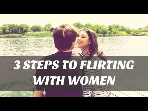 how to react when a girl flirts with you