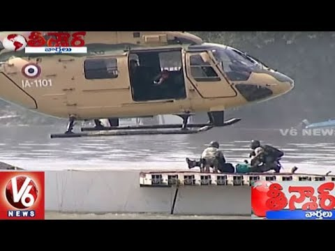 Army Performs Operation Pralay Sahay Mock Drill In Hussain Sagar | Teenmaar News