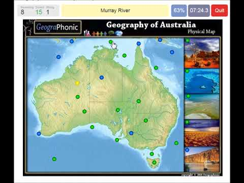 physical features of Australia, geography of Australia, rivers , deserts, seas, game run