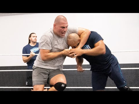 Cain Velasquez trains at the WWE Performance Center