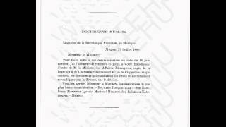1909 Mexican report to Vittorio Emmanuel King of Italy about the sovereignty of the island of Clipperton. France and Mexico are ...