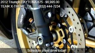 6. 2012 Triumph DAYTONA 675  for sale in Houston, TX 77057 at T