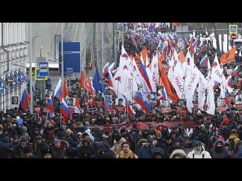 Mόσχα: Διαδήλωση στη μνήμη του Μπορίς Νεμτσόφ