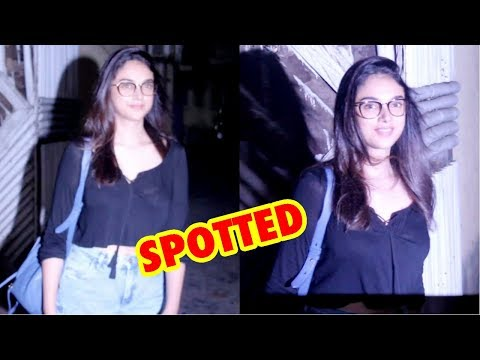 Aditi Rao Hydari Spotted At Zido D Salon At Bandra