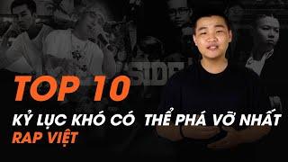 Rapper rap nhanh nhất?   Top 10 kỷ lục khó có thể phá vỡ nhất rap Việt