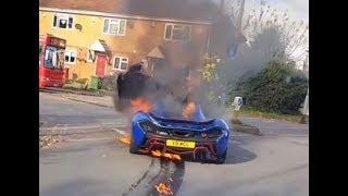 Редчайший гиперкар McLaren сгорел дотла за считанные минуты