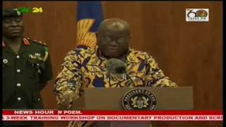 The President, Nana Akufo Addo says he will not relent in his fight against Galamsey. In an interaction with the media on his first six months in office at the Flagstaff House in Accra, the President said even if he will use all government machinery to tackle the menace for sanity to prevail he is ready to do so. He reminded the media that his government is not against mining but illegal mining since it is degradable to the environment.