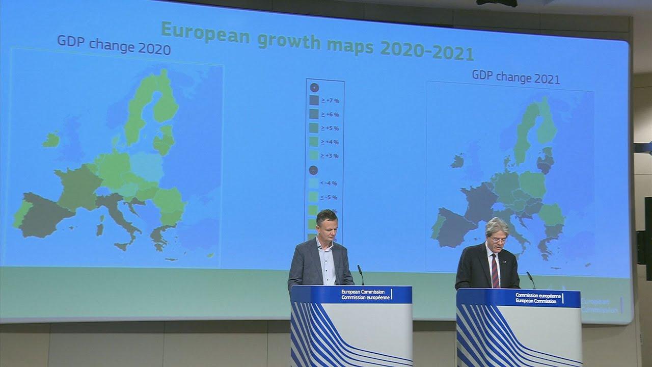 Οι δηλώσεις του Ευρωπαίου επιτρόπου Οικονομίας Π. Τζεντιλόνι για την πρόβλεψη της ύφεσηςστην Ελλάδα